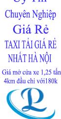 Dịch vụ taxi tải giá rẻ tại phố Vũ Phạm Hàm