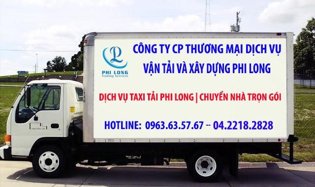 Dịch vụ taxi tải giá rẻ tại phố Trương Công Khải