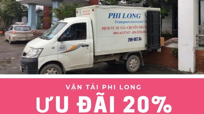 Dịch vụ taxi tải giá rẻ tại phố Phúc Xá