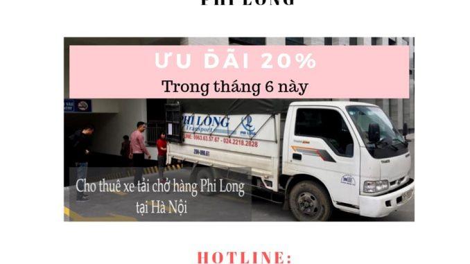 Taxi tải Phi Long tại đường Lĩnh Nam