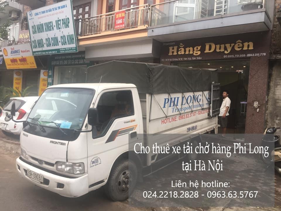 Phi Long Thuê xe tải tại phố Ái Mộ