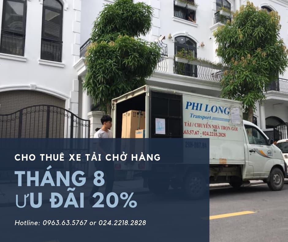 Dịch vụ thuê xe tải Phi Long tại phố Tây Trà