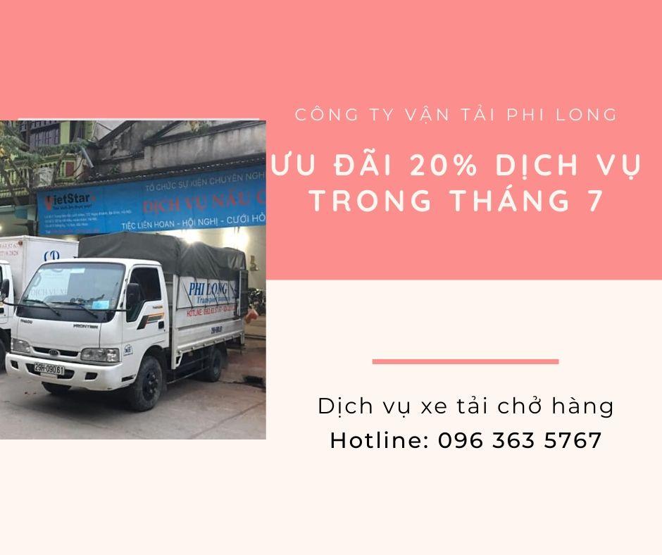 Dịch vụ cho thuê xe tải Phi Long tại xã Hồng Minh